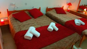 A bed or beds in a room at Astrofegia Apartments