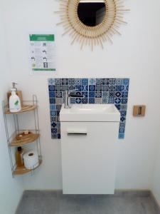 Salle de bains dans l'établissement Kerautret Vian