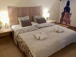 A bed or beds in a room at Kazimierz Luxury Apartment