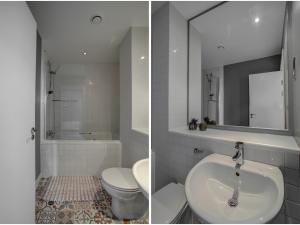 A bathroom at Elegant & sophisticated apt for 4, Central MCR