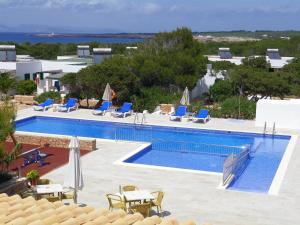 The swimming pool at or near Punta Rasa Formentera Apartments