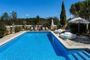 The swimming pool at or near Villa Can Fita