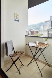 Balkonas arba terasa apgyvendinimo įstaigoje Moodeight Apartments