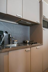 A kitchen or kitchenette at Aparthotel Adagio La Défense Esplanade