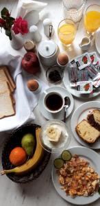 Breakfast options available to guests at Stavros Villas