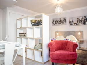 A seating area at Apartment Studio Mafra