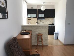 Een keuken of kitchenette bij Grochowska Apartament