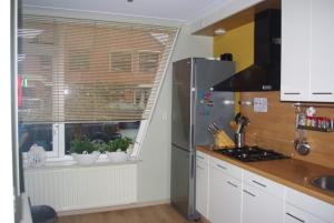 A kitchen or kitchenette at Vakantiehuis Waterakkers Heemskerk