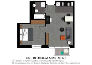 The floor plan of Adina Apartment Hotel Hamburg Michel