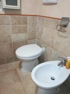 A bathroom at La Maddalena