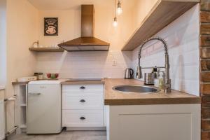 Kuchyňa alebo kuchynka v ubytovaní Amos Apartment