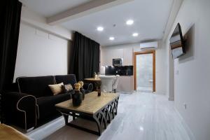 Zona de estar de Habitat Suites Gran Vía