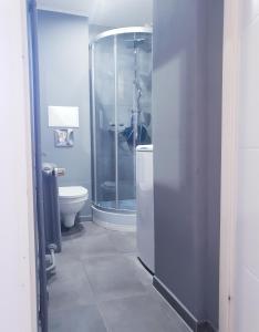 A bathroom at Apartament Wałbrzych