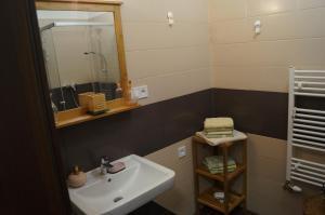 Kúpeľňa v ubytovaní Apartmán v Rezidencii pri radnici