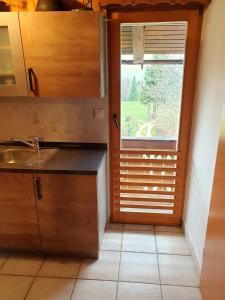 Ein Badezimmer in der Unterkunft Mountain apartment Uskovnica