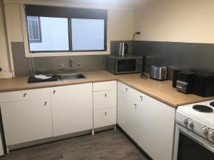 A kitchen or kitchenette at Peace and Quiet near the Beach