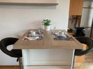Küche/Küchenzeile in der Unterkunft Garconniere im grünen Herzen von Salzburg