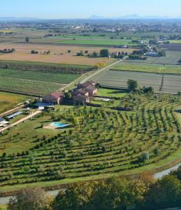 Vista aerea di La Foresteria di Borgogelsi Apartments