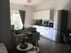 Küche/Küchenzeile in der Unterkunft Fewo Watzmann