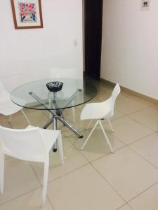 A seating area at Apartamento Setor Bueno