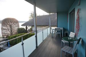 A balcony or terrace at Seeappartement Marina