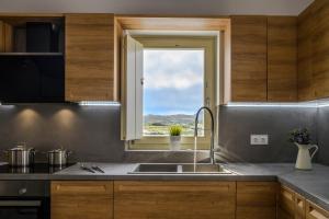A kitchen or kitchenette at Milos Zen Suites