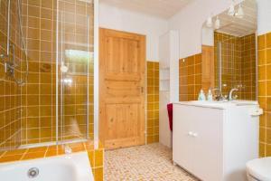 Ein Badezimmer in der Unterkunft Ferienwohnung Gross A