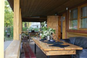 A porch or other outdoor area at Izbushka
