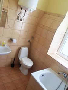 A bathroom at Shishkin apartments
