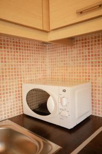 A bathroom at apartment in patras