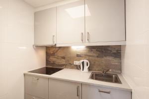 Kuhinja oz. manjša kuhinja v nastanitvi Badhuisweg Apartments