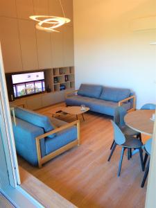 A seating area at LABAS NERINGA