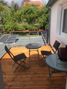 Ein Balkon oder eine Terrasse in der Unterkunft Ferienwohnung Stargardt