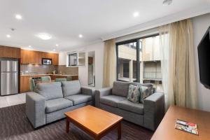 Khu vực ghế ngồi tại Quality Hotel Bayside Geelong