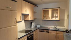 Küche/Küchenzeile in der Unterkunft Gästehaus Siebert