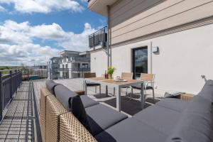 Ein Balkon oder eine Terrasse in der Unterkunft Villa Bernstein
