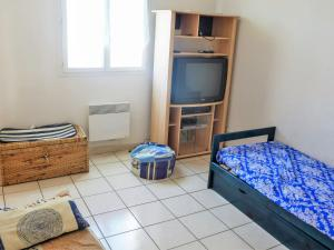 A television and/or entertainment center at Holiday Home Les Garrigues Du Rivage