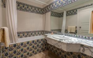 A bathroom at Le Corail Appart'Hotel Yasmine Hammamet