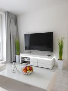 Televízia a/alebo spoločenská miestnosť v ubytovaní Apartmány Urban