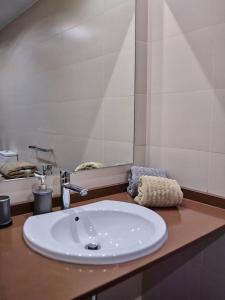 Ein Badezimmer in der Unterkunft DUPLEX MUY LUMINOSO CON VISTAS A LA PUERTA DE ALCALÁ