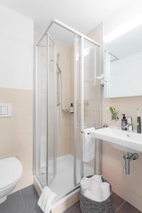 A bathroom at Swiss Star Center