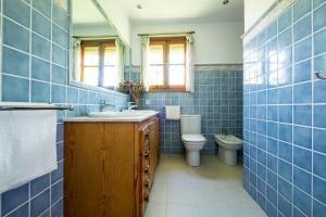 A bathroom at Acogedor chalet en Retiro