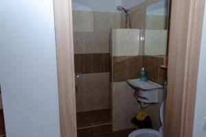 A bathroom at Casa Pasteur