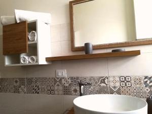 A bathroom at Domus Flavii Re di Roma
