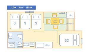The floor plan of T-home