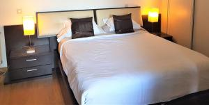 A bed or beds in a room at Atocha Apartments
