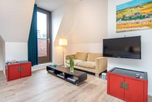 A seating area at Brand new appartment in oldes part of town