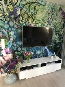 A television and/or entertainment center at Noordhuus
