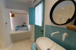 A bathroom at Naxos Cave Suites