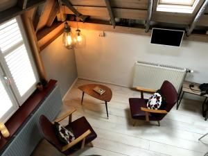 A seating area at B&B In Het Voorhuys